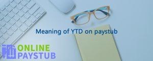 Meaning of YTD on paystub