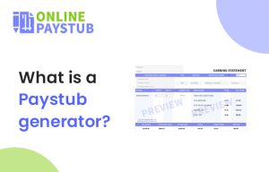 generate a pay stub online